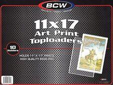 15 BCW 11X17 Art Print Toploader Top Load Holder Poster Menu Photo Frame