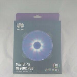 Cooler Master LARGE MF200R RGB LED 200mm Hybrid Silent High Air Flow Case Fan