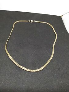 9ct gold plated snake chain 47cm 18.5 inch  7.8Grams
