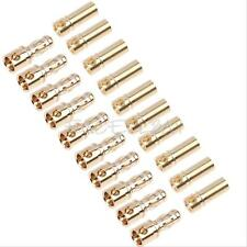 10-Pairs 3.5mm Golden Copper Plated Bullet Banana Plug Connector for RC Battery