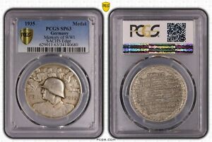 1935 Germany Silver Medal PCGS SP63 Memories of WWI