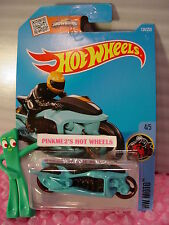 Case L/M 2016 i Hot Wheels FLY-BY #134✰Turquoise-Blue✰HW MOTO✰motorcycle