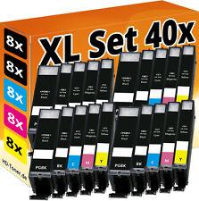 40x DRUCKER PATRONE für CANON PIXMA IP7250 MG5450 MG5550 MG6450 MG6650 MX925
