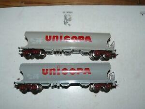 train électrique ho sncf JOUEF  2 wagons tremie UNICOPA