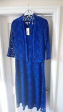 Nightingales ladies blue sleeveless dress and jacket size 14 BNWT