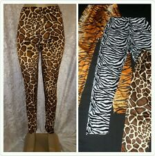6d7bb6989d49e Fancy Dress Leggings Zebra/Tiger/Giraffe/Leopard Print Girls/Ladies All  Sizes