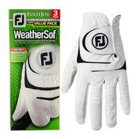 FootJoy Herren Weathersof Leder 3 Packung LH Golfhandschuh 30%OFF