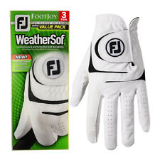 Footjoy Mens WeatherSof Leather 3 Pack LH Golf Glove 30% OFF RRP