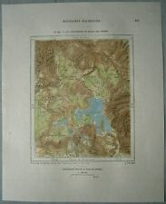 1892 Perron map YELLOWSTONE LAKE AND REGION OF GEYSERS, WYOMING (#130)
