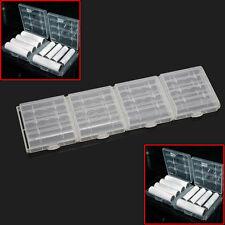 4 x Blanca Caja Estuche para Guardar Pila Batería AA-AAA Accesorio Práctico