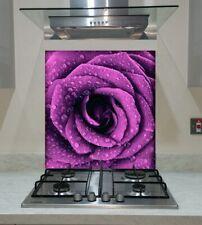 Purple Tulips Glass Splashback in Various Sizes Heat Resistant to 500°C