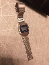 - montre quartz homme vintage LCD - DUKE - bracelet métal