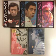 LOT 4 K7 VIDEO VHS SPECIAL SERGE GAINSBOURG