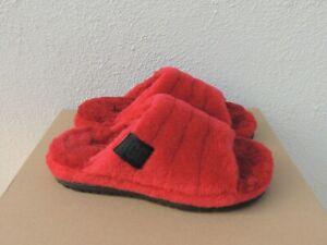 UGG SAMBA RED ALL GENDER FLUFF YOU SHEEPSKIN SLIPPERS, MEN US 11/ EUR 44 ~NEW