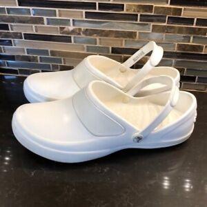 Crocs white rubber clog sandals