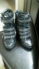 NIB Michael Kors Black leather studs wedge sneaker boots comes with original box