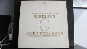 SIBELIUS SEVEN SYMPHONIES, WATANABE JAPAN - 5 LP BSC 157