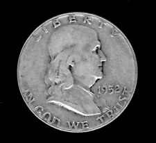 Franklin, Silver 1/2 Dollar coin, 1952 circulated-ungraded. 90% silver.