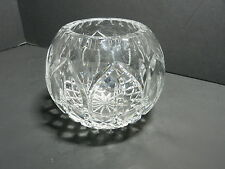 """Crystal Clear Astor Rose Bowl Clear Crystal w Cuts 5"""" D Contemporary"""