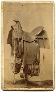 Dodge City Kansas Saddle Made by R. E. Rice 1880s CDV Photo Only 1 Exists Today