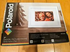 """BRAND NEW Polaroid 7"""" Digital Photo Picture Wood Frame and Mat - WHITE PDF-700W"""