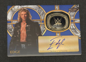 2018 Topps WWE Legends EDGE Auto Hall of Fame Ring Blue #d /25