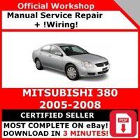 FACTORY WORKSHOP SERVICE REPAIR MANUAL MITSUBISHI 380 2005-2008 WIRING DIAGRAM