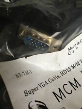SALE! MCM 83-7861 SUPER VGA (VIDEO GRAPHICS ARRAY) HD15 MALE TO MALE 75' CABLE