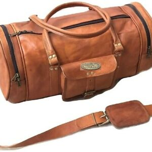 """30"""" Leather Travel Duffle Weekend Men Luggage Overnight Carry On Shoulder Bag"""