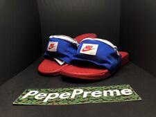 Nike Benassi Fanny Pack Slide Sandals Red/Blue/White AO1037-601 Men's Size 9