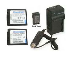 TWO DMW-BLB13PP Batteries + Charger for Panasonic DMC-G1KEB-A DMC-G1KEB-K DMC-G2