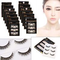 3x Fashion Women Beauty Makeup Handmade False Natural Long Eye Lashes Eyelashes