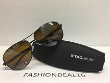 New Authentic Tag Heuer Aviator Brown Mirrored Automatic TH0884 203 Sunglasses
