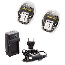 TWO 2 Batteries + Charger for Casio EX-Z80PK EX-Z80SR EX-Z80VP EX-Z85 EX-Z85BN