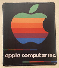 """Vintage Apple Mouse Pad 9.5"""" x 8"""" Good Condition Stitched Edges See Pics *New"""