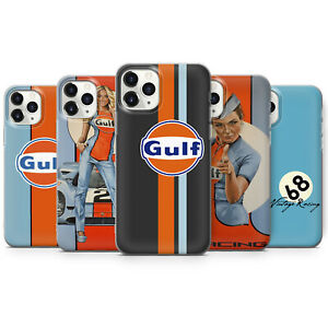 GULF OIL STRIPE RACING PHONE CASES & COVERS FOR IPHONE 6 7 8 X 11 SE 12 PRO MAX