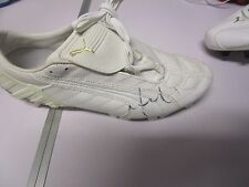 CARLTON FC : CHRIS JUDD SIGNED WHITE PUMA FOOTBALL BOOT + COA