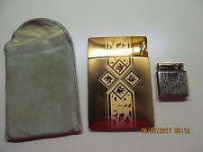 Vtg Elgin Lite o Matic Magic Action Cigarette Case & Colibri Kreuster W.Germany