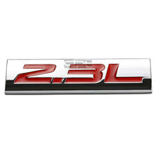 BUMPER STICKER METAL EMBLEM DECAL TRIM BADGE POLISHED CHROME RED 2.3L 2.3 L