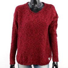 7890c6dd94b5 SUPERDRY Damen Gr. L Icarus Pullover Shirt Langarm Knit Oberteil Weinrot  A2334