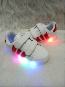 Sneaker Shoes With Light For Kids (Red)