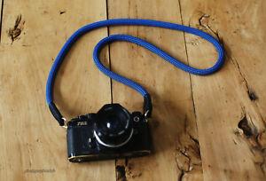 Windmup COOL dark blue Climbing rope 10mm handmade Camera neck strap