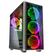 Kolink Observatory PC CASE ATX Mid Tower RGB LED Tempered Glass Gaming White