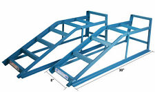 2x Heavy Duty 2.5 Ton Tonne Metal Car Van Ramps Lifting Garage Mechanic Jack New