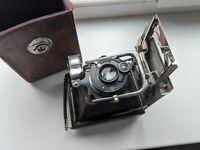 RARE! Emil Wünsche Minimal Folding Bed Camera with Dominar-Anastigmat 10,5cm 4,5