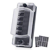 12V 6-Way ATC Blade Fuse Block Holder Waterproof Cover for Car Jeep GMC Truck