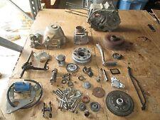 1985 Honda ATC70 Crankcases Cylinder Clutch Cover Oil Pump Camshaft Parts Lot