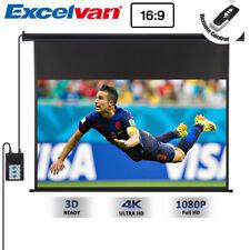 """Excelvan 16:9 87.17""""x49.02"""" LCD Proiettore Schermo Motorizzato Elettrico EU PLUG"""