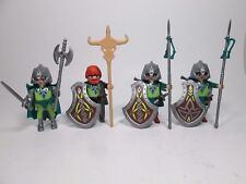Playmobil Castle Green Knight Figure Lot w/ Weapons  New Loose