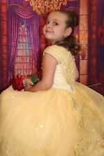 Size 4 Disney Store Limited Edition Beauty and the Beast Belle Costume Dress